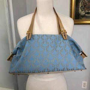 Francesco Biasia  bag in blue with leather trim